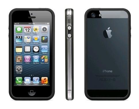 Ochranný rámeček kryt bumper pro iphone 5 5s černé hrany